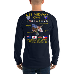 USS Midway (CV-41) 1979-80 Long Sleeve Cruise Shirt