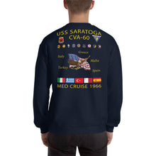 Load image into Gallery viewer, USS Saratoga (CVA-60) 1966 Cruise Sweatshirt