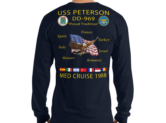 USS Peterson (DD-969) 1988 Long Sleeve Cruise Shirt