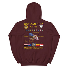 Load image into Gallery viewer, USS America (CV-66) 1981 Cruise Hoodie