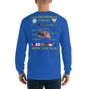 USS Enterprise (CVN-65) 1982-83 Long Sleeve Cruise Shirt