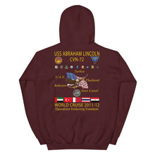 Load image into Gallery viewer, USS Abraham Lincoln (CVN-72) 2011-12 Cruise Hoodie