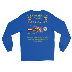 USS America (CV-66) 1990-91 Long Sleeve Cruise Shirt (Ver 1)