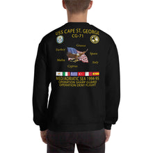 Load image into Gallery viewer, USS Cape St George (CG-71) 1994-95 Cruise Sweatshirt