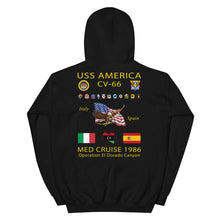 Load image into Gallery viewer, USS America (CV-66) 1986 Cruise Hoodie