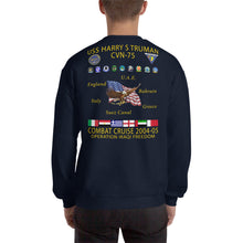 Load image into Gallery viewer, USS Harry S. Truman (CVN-75) 2004-05 Cruise Sweatshirt