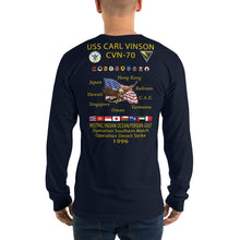 Load image into Gallery viewer, USS Carl Vinson (CVN-70) 1996 Long Sleeve Cruise Shirt