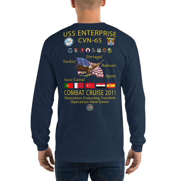 USS Enterprise (CVN-65) 2011 Long Sleeve Cruise Shirt