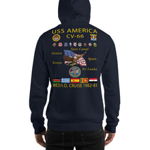 Load image into Gallery viewer, USS America (CV-66) 1982-83 Cruise Hoodie