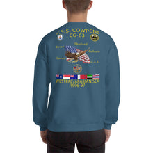 Load image into Gallery viewer, USS Cowpens (CG-63) 1996-97 Cruise Sweatshirt