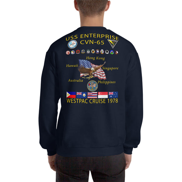 USS Enterprise (CVN-65) 1978 Cruise Sweatshirt