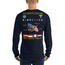 Load image into Gallery viewer, USS Nimitz (CVN-68) 1982-83 Long Sleeve Cruise Shirt