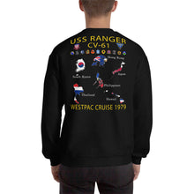 Load image into Gallery viewer, USS Ranger (CV-61) 1979 Cruise Sweatshirt - Map