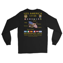 Load image into Gallery viewer, USS America (CV-66) 1993-94 Long Sleeve Cruise Shirt
