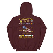 Load image into Gallery viewer, USS Forrestal (CV-59) 1989-90 Cruise Hoodie