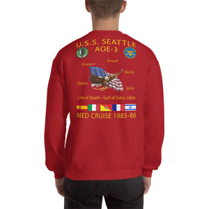 USS Seattle (AOE-3) 1985-86 Cruise Sweatshirt