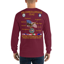 Load image into Gallery viewer, USS Chancellorsville (CG-62) 1995 Long Sleeve Cruise Shirt