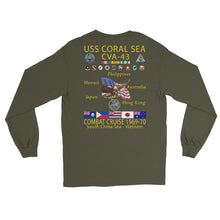 Load image into Gallery viewer, USS Coral Sea (CVA-43) 1969-70 Long Sleeve Cruise Shirt