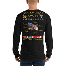 Load image into Gallery viewer, USS America (CVA-66) 1965-66 Long Sleeve Cruise Shirt