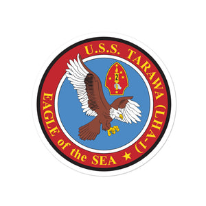 USS Tarawa (LHA-1) Circle Ship's Crest Vinyl Sticker