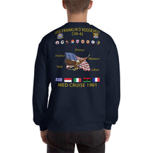 Load image into Gallery viewer, USS Franklin D. Roosevelt (CVA-42) 1961 Cruise Sweatshirt