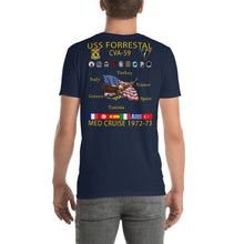 Load image into Gallery viewer, USS Forrestal (CVA-59) 1972-73 Cruise Shirt