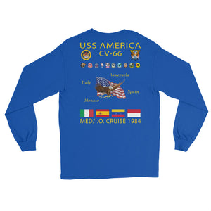 USS America (CV-66) 1984 Long Sleeve  Cruise Shirt