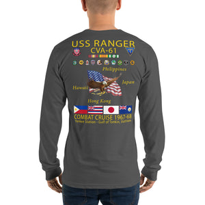 USS Ranger (CVA-61) 1967-68 Long Sleeve Cruise Shirt