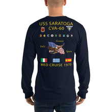 Load image into Gallery viewer, USS Saratoga (CVA-60) 1970 Long Sleeve Cruise Shirt