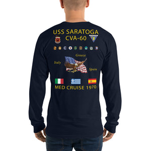 USS Saratoga (CVA-60) 1970 Long Sleeve Cruise Shirt
