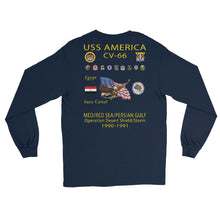 Load image into Gallery viewer, USS America (CV-66) 1990-91 Long Sleeve Cruise Shirt (Ver 1)