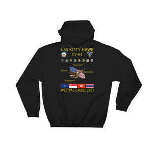 USS Kitty Hawk (CV-63) 2001 Cruise Hoodie