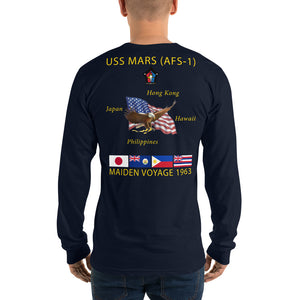 USS Mars (AFS-1) 1963 Long Sleeve Cruise Shirt