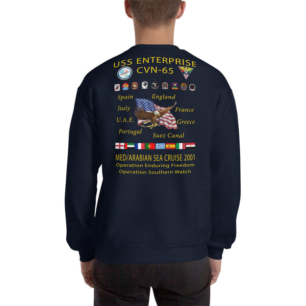 USS Enterprise (CVN-65) 2001 Cruise Sweatshirt