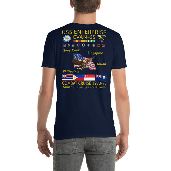 USS Enterprise (CVAN-65) 1972-73 Cruise Shirt