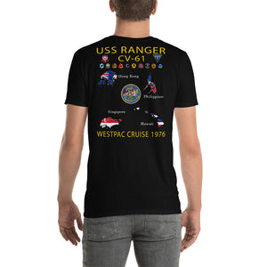 USS Ranger (CV-61) 1976 Cruise Shirt - Map