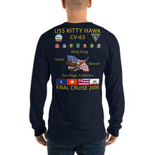 Load image into Gallery viewer, USS Kitty Hawk (CV-63) 2008 Long Sleeve Cruise Shirt