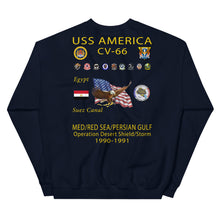 Load image into Gallery viewer, USS America (CV-66) 1990-91 Cruise Sweatshirt (Ver 1)
