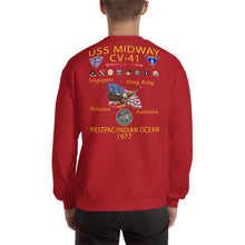 Load image into Gallery viewer, USS Midway (CV-41) 1977 Cruise Sweatshirt