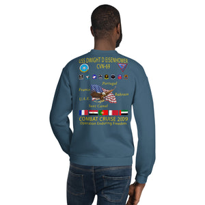USS Dwight D. Eisenhower (CVN-69) 2009 Cruise Sweatshirt