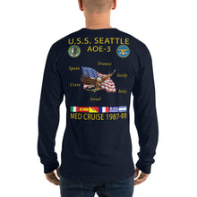 Load image into Gallery viewer, USS Seattle (AOE-3) 1987-88 Long Sleeve Cruise Shirt