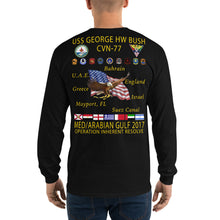 Load image into Gallery viewer, USS George HW Bush (CVN-77) 2017 Long Sleeve Cruise Shirt
