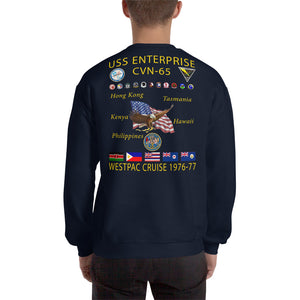 USS Enterprise (CVN-65) 1976-77 Cruise Sweatshirt