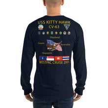 Load image into Gallery viewer, USS Kitty Hawk (CV-63) 2001 Long Sleeve Cruise Shirt