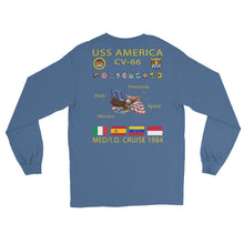 Load image into Gallery viewer, USS America (CV-66) 1984 Long Sleeve  Cruise Shirt