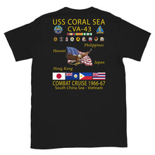 Load image into Gallery viewer, USS Coral Sea (CVA-43) 1966-67 Cruise Shirt