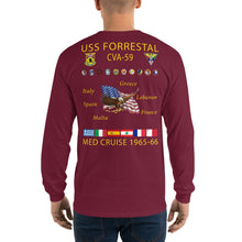 Load image into Gallery viewer, USS Forrestal (CVA-59) 1965-66 Long Sleeve Cruise Shirt