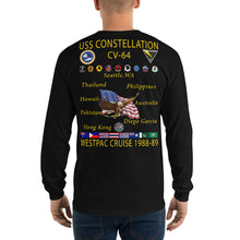 Load image into Gallery viewer, USS Constellation (CV-64) 1988-89 Long Sleeve Cruise Shirt