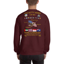 Load image into Gallery viewer, USS Kitty Hawk (CV-63) 1992-93 Cruise Sweatshirt