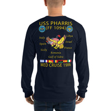 Load image into Gallery viewer, USS Pharris (FF-1094) 1986 Long Sleeve Cruise Shirt